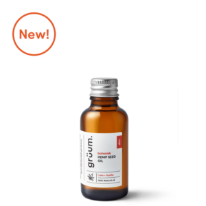 New bottle of botanisk hemp seed face oil